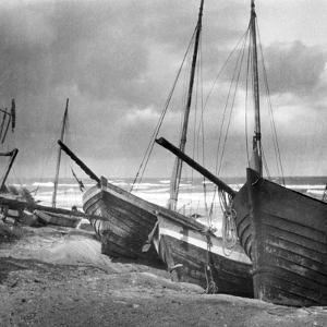 Fischerboote in Samland, 1924 by Scherl