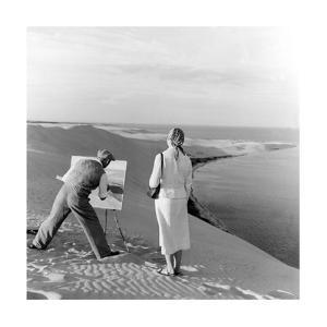 Maler auf einer Sanddüne, 1939 by Scherl
