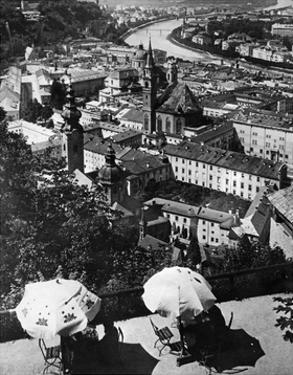 Panoramabild von Salzburg, 1921 by Scherl