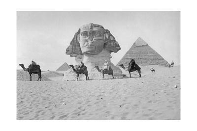 Pyramiden und Sphinx von Gizeh, ca. 1900er Jahre