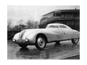 Rennwagen von Adler auf der Berliner Avus, 1935 by Scherl