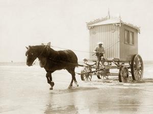 Beach Wagon in Ostende, 1910 by Scherl S?ddeutsche Zeitung Photo