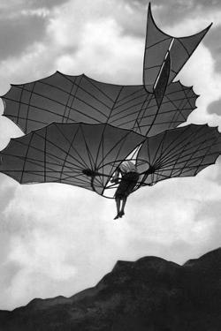 Flying Machine Built by Otto Lilienthal in Germany, 1900 by Scherl S?ddeutsche Zeitung Photo