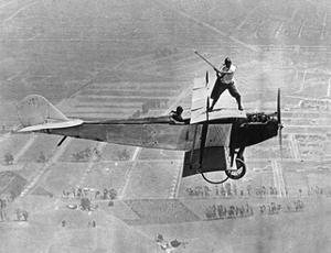 Man Playes Golf at a Plane, 1925 by Scherl S?ddeutsche Zeitung Photo