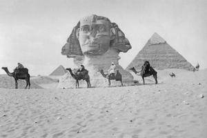 Pyramids and Sphinx of Giza, Ca. 1900's by Scherl S?ddeutsche Zeitung Photo