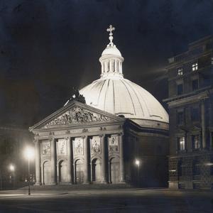 St. Hedwig's Cathedral in Berlin at Night, 1930 by Scherl S?ddeutsche Zeitung Photo