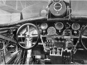 View of the Cockpit of a Junkers G-23 Aircraft, 1926 by Scherl S?ddeutsche Zeitung Photo