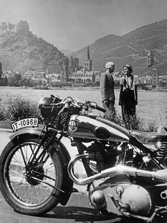 A Motorcycle Trip Alongside The Rhein River, 1936Scherl Süddeutsche Zeitung  Photo