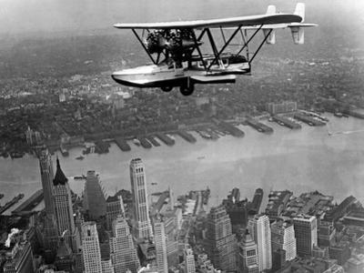 Amphibian Flying over New York City, 1932 by Scherl Süddeutsche Zeitung Photo