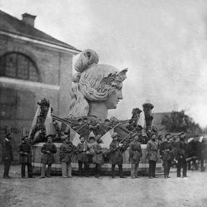 Assembly of the Bavaria Statue by Scherl Süddeutsche Zeitung Photo