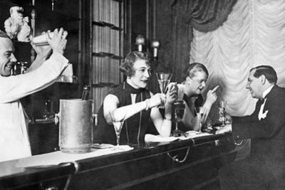 At the Bar, 20Ies by Scherl Süddeutsche Zeitung Photo