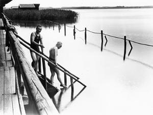 Bathing at Schlier Lake, 1924 by Scherl Süddeutsche Zeitung Photo
