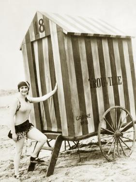 Bathing Hut in the Usa, 1925 by Scherl Süddeutsche Zeitung Photo