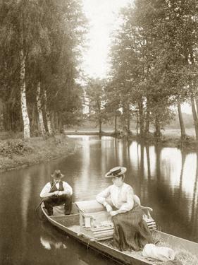 Boat Ride Through the Summer Spreewald, 1904 by Scherl Süddeutsche Zeitung Photo
