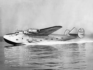 "Boeing 314 Clipper ""Yankee Clipper"" Taking Off, 1939 by Scherl Süddeutsche Zeitung Photo"