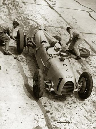 Changing Tires at the Grand Prix on Nuerburgring, 1934 by Scherl Süddeutsche Zeitung Photo