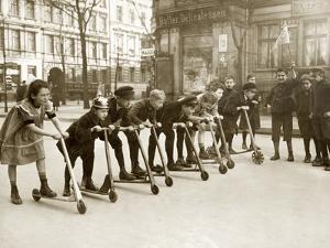 Children at a Scooter Race, 1922 by Scherl Süddeutsche Zeitung Photo