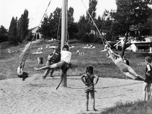 Children Playing at a Playground, 1936 by Scherl Süddeutsche Zeitung Photo