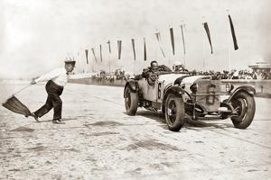 Christian Werner During a Race at the Nuerburgring, 1928 by Scherl Süddeutsche Zeitung Photo