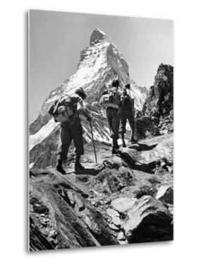 Climbers on the Matterhorn by Scherl Süddeutsche Zeitung Photo