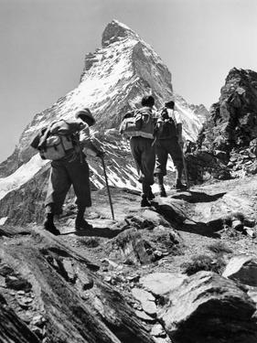Climbers on the Matterhorn by Scherl Süddeutsche Zeitung Photo