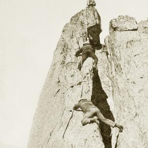 Climbers on the Mont Blanc, 1908 by Scherl Süddeutsche Zeitung Photo