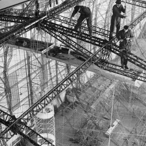 Construction of the Airship 'Hindenburg', 1934 by Scherl Süddeutsche Zeitung Photo