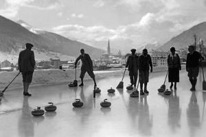 Curling in Davos, 1920s by Scherl Süddeutsche Zeitung Photo