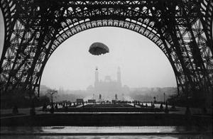 Experiments with a Parachute on the Eiffel Tower, 1913 by Scherl Süddeutsche Zeitung Photo