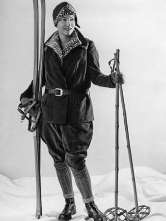 Fashion for Female Skiers, 1930 by Scherl Süddeutsche Zeitung Photo