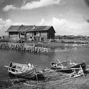 Fishing Boats in Karelia, 1930s by Scherl Süddeutsche Zeitung Photo
