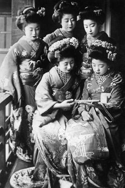 Girls in Japan, 1933 by Scherl Süddeutsche Zeitung Photo
