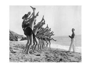 Gymnastics on the Beach, 1926 by Scherl Süddeutsche Zeitung Photo