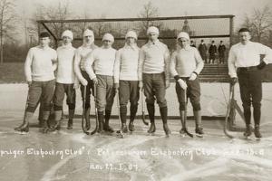 Ice Hockey Team of the Leipzig Sports Club, 1907 by Scherl Süddeutsche Zeitung Photo