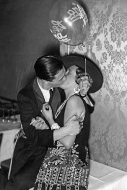 Kissing Couple at the 'Reimannball' in Berlin, 1929 by Scherl Süddeutsche Zeitung Photo