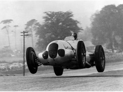 Manfred Von Brauchitsch Becomes Second in the Donington Grand Prix 1937 by Scherl Süddeutsche Zeitung Photo