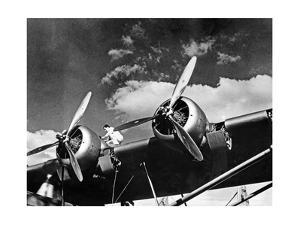 Martin M-130 Trans Pacific Clipper before Take-Off, 1935 by Scherl Süddeutsche Zeitung Photo