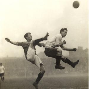 Moment from an English Soccer Match, 1909 by Scherl Süddeutsche Zeitung Photo