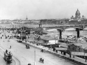Nikolai-Bridge in Saint Petersburg, 1916 by Scherl Süddeutsche Zeitung Photo