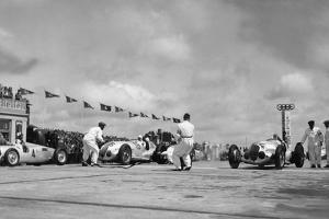 Nuerburgring: Racing Cars before the Start by Scherl Süddeutsche Zeitung Photo