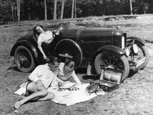 Outing with a Car , 1930 by Scherl Süddeutsche Zeitung Photo