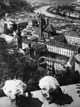 Panoramic Image of Salzburg, 1921 by Scherl Süddeutsche Zeitung Photo