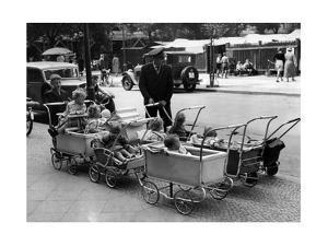 Pram Park in Berlin, 1937 by Scherl Süddeutsche Zeitung Photo