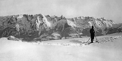 Skier in the Salzburger Land, 1939 by Scherl Süddeutsche Zeitung Photo
