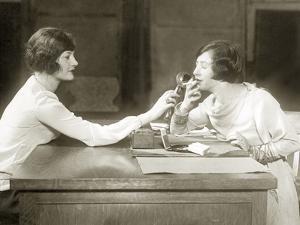 Smokers in the Administrative Offices of the U.S. Navy, 1927 by Scherl Süddeutsche Zeitung Photo