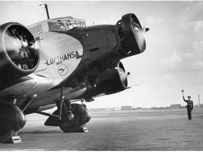 Start of a Junkers Ju 52 on the Berlin Tempelhof Airport, 1937 by Scherl Süddeutsche Zeitung Photo