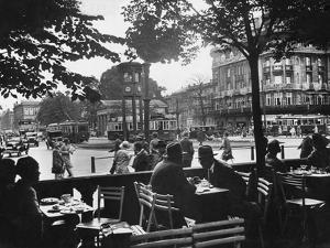 Street Cafe and Potsdamer Platz in Berlin, 1920-1929 by Scherl Süddeutsche Zeitung Photo