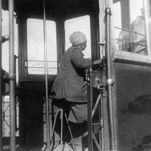 Streetcar Driver in Moscow, 1931 by Scherl Süddeutsche Zeitung Photo