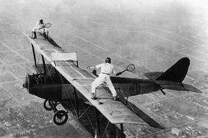 Tennis on a Plane, 1925 by Scherl Süddeutsche Zeitung Photo