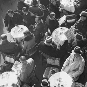 The Cafe Kranzler in Berlin, 1936 by Scherl Süddeutsche Zeitung Photo